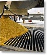 Corn At An Ethanol Processing Plant Metal Print