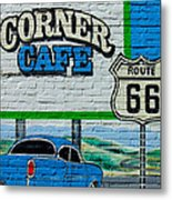 Corner Cafe Metal Print