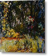 Corner Of A Pond With Waterlilies Metal Print
