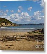 Cornish Seascape Maenporth Metal Print