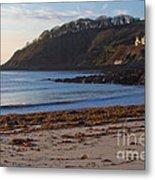 Cornish Seascape Meanporth Metal Print