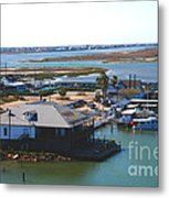 Corpus Christi Bay Towards Mustang Island Texas Metal Print