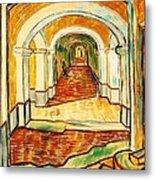 Corridor In The Asylum Metal Print