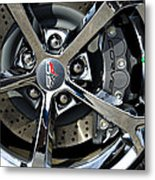 Corvette Chrome 60th Metal Print