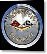 Corvette Name Plate Metal Print