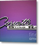 Corvette Sting Ray Emblem Metal Print