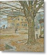 Cos Cob In November Metal Print by Childe Hassam
