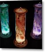 Cosmic Light Tubes 2 Metal Print by Colleen Cannon