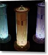Cosmic Light Tubes 3 Metal Print by Colleen Cannon