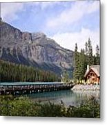 Crossing Emerald Lake Bridge - Yoho Nat. Park, Canada Metal Print