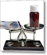 Cost Of Medicine Metal Print