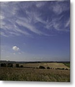 Cotswold View Metal Print