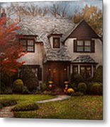 Cottage - Westfield Nj - The Country Life Metal Print by Mike Savad