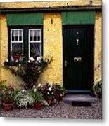 Cottage At Bushmills, Co Antrim, Ireland Metal Print