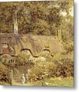 Cottage At Farringford Isle Of Wight Metal Print