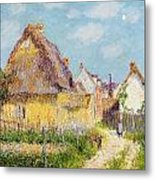 Cottage At Le Vaudreuil Metal Print by Gustave Loiseau