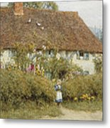 Cottage At West Horsley Surrey Metal Print