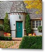 Cottage In The Park Metal Print