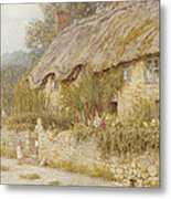 Cottage Near Wells Somerset Metal Print by Helen Allingham