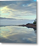 Cottage On The Shore Metal Print
