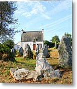 Cottage With Standing Stones Metal Print
