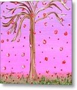 Cotton Candy Sky Wishing Tree Metal Print