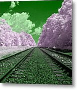 Cotton Candy Trees Metal Print