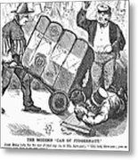 Cotton Loan Cartoon, 1865 Metal Print