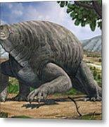 Cotylorhynchus Bransoni, A Prehistoric Metal Print