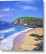 Coumeenoole Beach, Dingle Peninsula, Co Metal Print