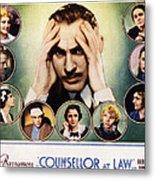 Counsellor At Law, Center John Metal Print