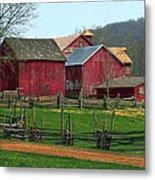 Country Barns Metal Print