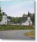 Country Church In Texture Metal Print