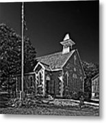 Country Church Monochrome Metal Print