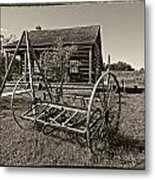 Country Classic Monochrome Metal Print