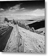 Country Mountain Road Through Glenaan Scenic Route Glenaan County Antrim Northern Ireland  Metal Print