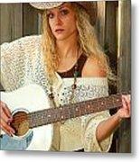 Country Musician Metal Print