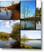 Country Parks Collage Metal Print