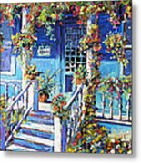 Country Porch And Flowers By Prankearts Metal Print