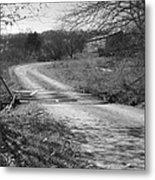 Country Roads Bw Metal Print