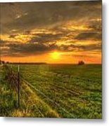 Country Roads Sunset Metal Print