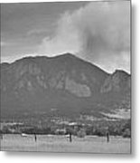 Country View Of The Flagstaff Fire Panorama Bw Metal Print
