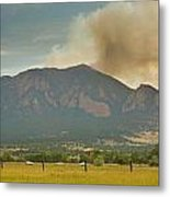 Country View Of The Flagstaff Fire Panorama Metal Print
