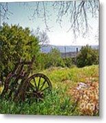Countryside Wagon Metal Print