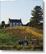 County Cork, Ireland Farmer On Tractor Metal Print