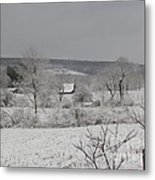 Courrier And Ives Winter Metal Print