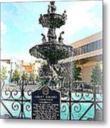 Court Square Fountain Metal Print