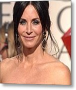 Courteney Cox Wearing Ofira Schwartz Metal Print