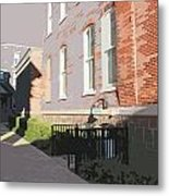 Courthouse Alley Metal Print