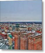 Courthouse And Statler Towers Winter Metal Print